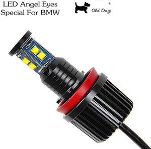 Angel Yeux Marker pour E60 E61 E63 E64 E70 X5 E71 X6 E82 E87 E89 Z4 E90 E91 E92 E93 40W H8 CREE LED Ampoule Ampoule HID Phare de voitures lumineuses