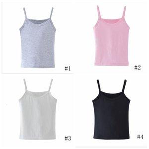 Kids Designer Clothes Baby Girls Tank Top Summer Modal Cotton Soft Suspender Vest Children Home Casual Undershirt Top Solid Base Shirt PY533