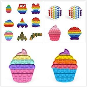 Push Pop System it Bubble Pineapple Rainbow Color Fidget Toys Autism Special Needs Sensory Anti-Stress Relief Toy Kids