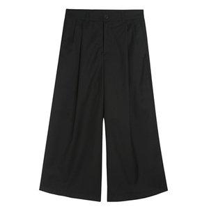Мужские штаны 2021 Harajuku Hip Hop Punk Harem Fashion Mounts Свободные Широкие Друды Ногов Повседневная Юбка Брюки Мужской Streetwear