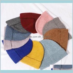 Knitted For Women To Keep Warm In Autumnwinter Cashmere Winter Hats Female Beanie Sequined Wool Casual Innocent Cap Ymwfx Beanieskull Tnqnp