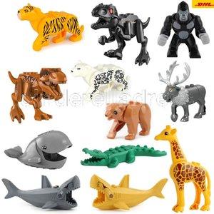 Minifigs Animal Building Blocks Brick Crocodile Cheetah Leopards Cow Shark Orangutang Giraffe Bear Panda Horse Mini Figure Toy CA15