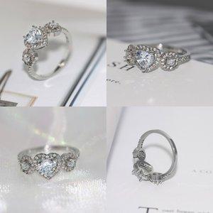 Taille 6/7/8/9/10 Nouvelle marque Design Nouvelle Mode Bijoux de mode 10kt Blanc Blanc Blanc Topazz CZ Gem Femmes Weddiing Ring 49 N2