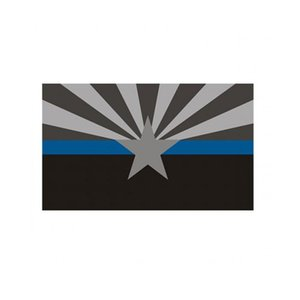 Arizona dünne blaue Linie Fahne 3x5 ft Police Banner 90x150cm Festival Party Geschenk 100D Polyester Indoor Outdoor Printed Flags und Banner