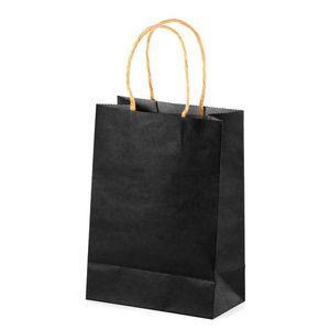 Portable Eco-Friendly Kraft Paper Doggy Bag Clothes Shoes Hats Packaging Handbag Christmas Gift Bag Takeaway YK0062