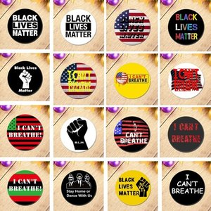 I Can't Breathe Black Lives Matter Pin Alloy George Floyd Brooch American Parade Badge Party Favor 6086 JC42