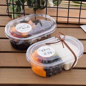 20шт чистый красный йогурт фруктовый салат упаковочный коробка 500 мл 700 мл мусс торт чашка чашки день рождения вечеринка мороженое пудинг десерт с крышкой одноразовые чашки