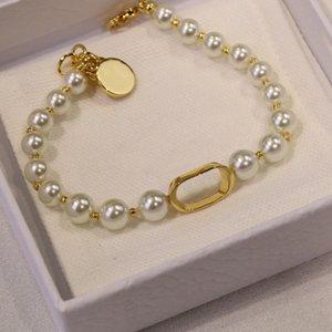 Luxurys Fashion Designers Pearl Bracete Strands Выбранные высококачественные материалы, показывающие элегантный Noble Chementement Consult Colocation очень красивый