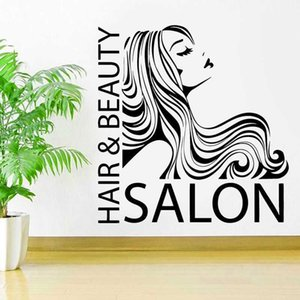 Hair&Beauty Salon Quote Hairstylists Hairdresser Wall Decal Vinyl Barbershop Sticker Art Decoration Poster Removable Murals BS06 210615