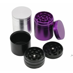 4 Layers Mini Cute Metal Tobacco Grinder Metal Aluminium Alloy Dry Herb Smoke Accessories Hemp Pepper Pot Spice Mill Grinders EWA4879