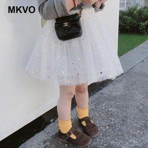 Skirts Brand Children's Clothing Stars Print Korean Casual Mesh Skirt Baby Pettiskirt Princess Tulle Party Dance