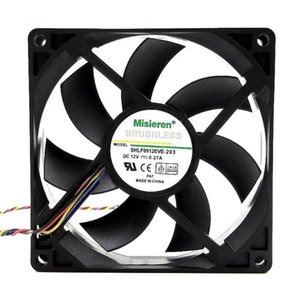 0.27A High Speed Double Ball Bearing 4 Pin PWM Temperature Control CPU Cooling Fan 4200RPM Fans & Coolings