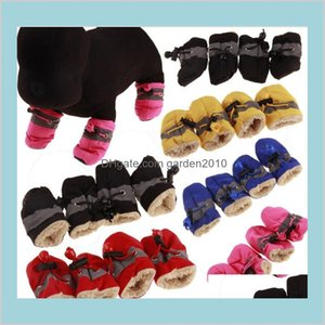 Dog Apparel Supplies Pet Home & Garden Warm Shoes Winter Waterproof For Dogs Large Anti Slip Puppy Small Rain Snow Boot Drop Delivery