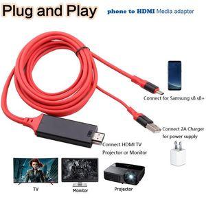 USB 3.1 Tipo C a Adattatore cavo compatibile con HDMI Convertitore Ultra1080P 4K Carica HDTV Video per proiettore TV MacBook Huawei Samsung 10 9