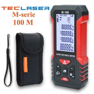 TECLASER Laser Distance Meter Laser Rangefinder 40-100M Digital Tape Rangefinder Trena Metro Device Laser Measuring Tape Tools 210719