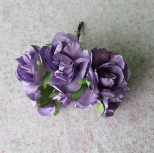 3-4CM DIY craft artificial mulberry paper flower small rose bouquet for scrapbooking&candy box decoration wedding accessories! ZHL1090