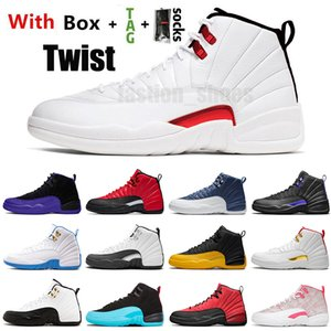 Nike Air Jordan Retro 12 pas cher Jumpman 12 12s hommes Chaussures de basket-ball de l'Université d'or de entraîneurs des hommes baskets de sport