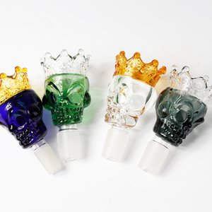 Glass Bowls Glass skull Style color 14mm 18mm bowl Male Bowl Piece For Glass Water Bongs pipe 344 V2