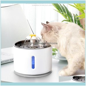Dog Supplies Home Gardendog Bowls & Feeders Pet Cat Bowl Matic Fountain Electric Water Feeder Dispenser Container With Led Level Display For