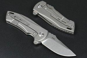 Promotion High End Flipper Folding Knife M390 Stone Wash Drop Point Blade CNC TC4 Titanium Alloy Handle Ball Bearing Fast Open EDC Pocket Knives