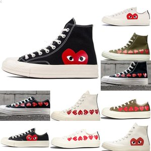 03 1970s White Skate Originals Classic 1970 Canvas Shoes Jointly Name CDG Play Big Eyes Non-Skid Sports Casual