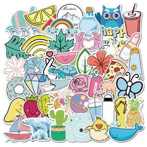 50 Cute Fresh Stickers Personalized Suitcase Notebook Waterproof Graffiti 5UAO723