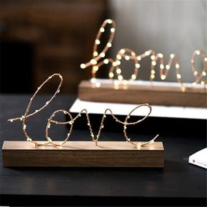 Novelty Items LED Light Letter Night Bedside Decoration Nordic INS Creative Home Living Room Bedroom Valentine's Day Birthday Gift Art