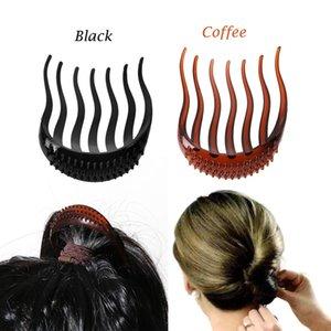 1 Piece New Stylish Coffee Black Women Girl Hair Styling Clip Stick Bun Maker Braid Tool Hair Accessories Korean Style
