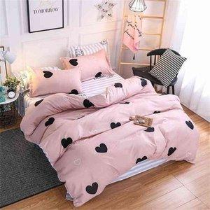 Weihnachtsgeschenke Bettwäsche Set Luxus 3/4 stücke Familienset (Bettbezug + Bett flach + Kissenbezug) Twin Full Queen King Size 201211