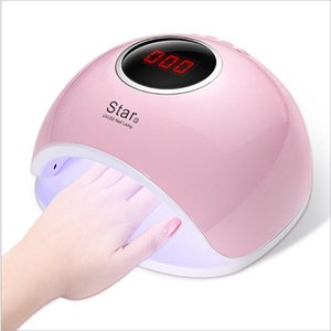 Gear Timing Manicure LED UV Nail Polish Lamps LCD Display Salon Home 72W Nails Dryer Ice Lamp Art Baking US Plug Dryers