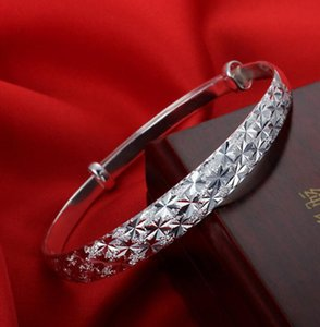 S925 Sterling Silver Plated Bangle Bracelets Brand Charm Star Cuff Bracelet Jewelry for Women