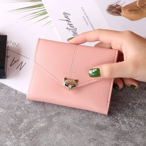 2021 Fashion Wallets Cartoon Animal Fox Candy Colored Girls Coin Bags Women Key Wallets Children Cute Cartoon Mini Coin Purse