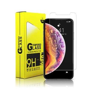 حامي الشاشة لفون 12 XS ماكس الموالية XR خفف من الزجاج لفون برو 11 ماكس 7 8 زائد LG الإبرة 6 حامي فيلم 0.33mm مع ورقة مربع