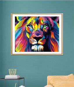 Atacado! 5d pintura de diamante sem quadro 30 * 40cm coruja lança leão animal forma diy arte kit de pintura adesivo de parede stitch ponto de decoração de casa a12