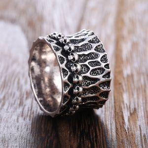 Cao Shi Cross-Border Hot Punk Alloy Skull Shape Mens Ring European and American Street Trends Finger Ring Wholesale