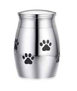 Kedi Taşıyıcıları Catentlar Evler Küçük Kremasyon Urn Pet Külleri Için Mini Keepsake Paslanmaz Çelik Anıt Urns Köpekler Kediler Tutucu EWE6284