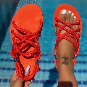 Wholesale Womens Flat Open Toe Slides Sandals Brand Designer women Flip flops Slipper Fashion Color Comfortable Outdoor Ladies Casual shoes NO04