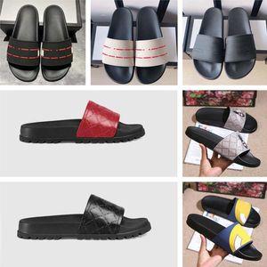 2021 Tasarımcı Erkek Kadın Terlik Çiçek Kutusu Ile Toz Çanta Ayakkabı Yılan Baskı Slayt Yaz Geniş Düz Sandalet Terlik Bayanlar Çevirme Loafer'lar