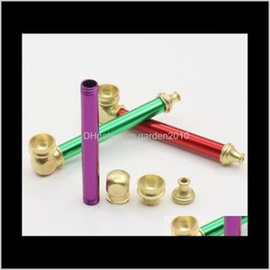 Metal Portable Copper Hand 10Cm Mini Tobacco Smoke Filter Pipes Oil Burner Pipe Smoking Accessories Gga36201 1Udpi Zleii