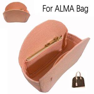 For ALMA Shell Bag Purse Insert Organizer Makeup Handbag Travel Inner Cosmetic Bag-Premium Felt (Handmade 20 Colors) Bags & Cases