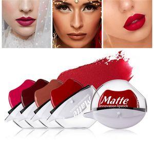 Lip Shape Matte Lipstick Innovation Design Fast Makeup Portable Scalloped Lipsticks No Need Smear