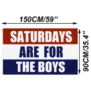 Polyester 3x5 FT Saturdays Are For The Boys Flag Banner Decoration Flags College Fraternities Party TH0002