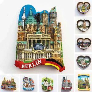 German Fridge Magnets Berlin Frankfurt Hamburg Freiburg Munchen Neuschwanstein Tourist Souvenirs Magnetic Stickers Travel Gifts