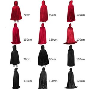 EDCRFV 1PC Adult Kids Halloween Cloak Unisex Thicken Velvet Hooded Cape Glitter Party Vampire Stage Performance Cosplay Costume