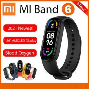 Xiaomi Youpin Mi Band 6 Smart Wristband AMOLED Blood Oxygen Fitness Traker Heart Rate Bluetooth Waterproof Bracelet six