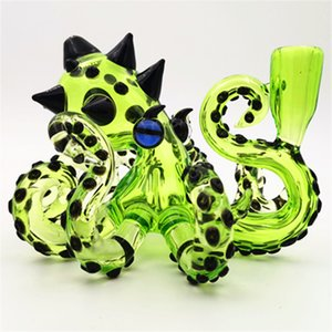 Glass Bong Octopus Rig With 14.4MM Female Joint Hookahs Water Pipe Bubbler