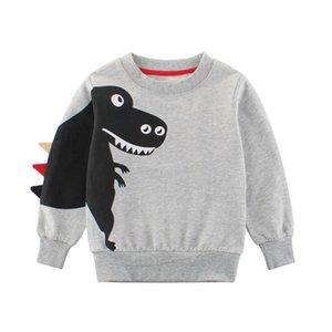 3-10Year Boys Sweatshirts Animal Pattern Autumn Winter Outwear Children Sweatshirts for Kids Clothes Baby Boy Cotton Pullovers G0917