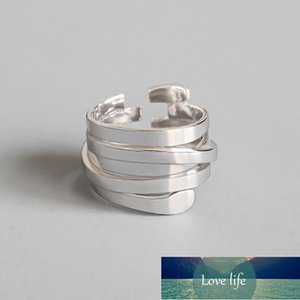 925 Sterling Silver Finger Rings For Women Girls Wedding Party Jewerly Opening Adjustable Multi-layer Ring For Women jz489