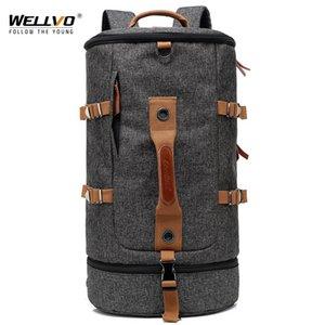50L العسكرية التكتيكية حقيبة الظهر التخييم حقيبة تسلق الجبال حقيبة الرجال المشي لمسافات طويلة الظهر حقائب السفر دلو mochila XA638ZC 210309