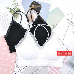 Suspender Waistcoat Brassiere Without Steel Ring Underwear Buy New Summer Bear Eyelash Lace Top SV7I